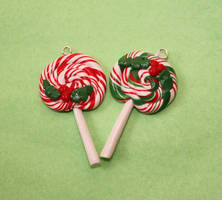 Christmas lollipop charms by citruscouture
