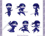 Robyn's Ninja Poses by EmilyCammisa