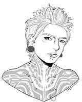 Ryuuhei Bust Portrait for Kurai by EmilyCammisa