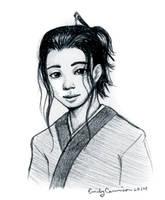 Liz-66's OC Sketch Portrait by EmilyCammisa