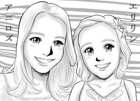 Ani Rose and Aerilyn's Anime Portrait by EmilyCammisa