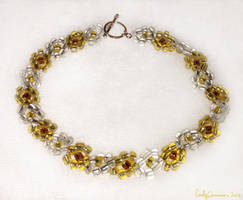 Golden Canary Daisy Anklet by EmilyCammisa