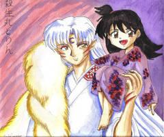 Rin and Sesshoumaru by EmilyCammisa