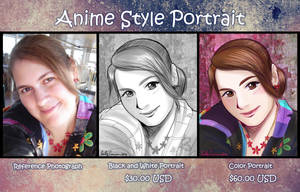 Anime Portrait Sample by EmilyCammisa