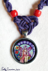 'Stained Glass Fairy' Pendant Closeup by EmilyCammisa
