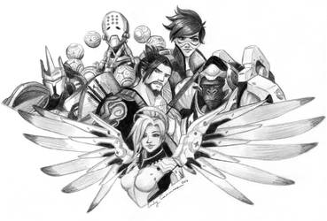 Overwatch Fanart Commission by EmilyCammisa