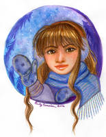 Snowglobe Portrait Commission 1 by EmilyCammisa