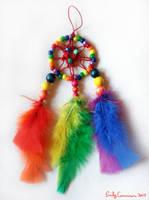 Rainbow Bead Dreamcatcher by EmilyCammisa