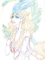Carnival Priestess Lineart by EmilyCammisa