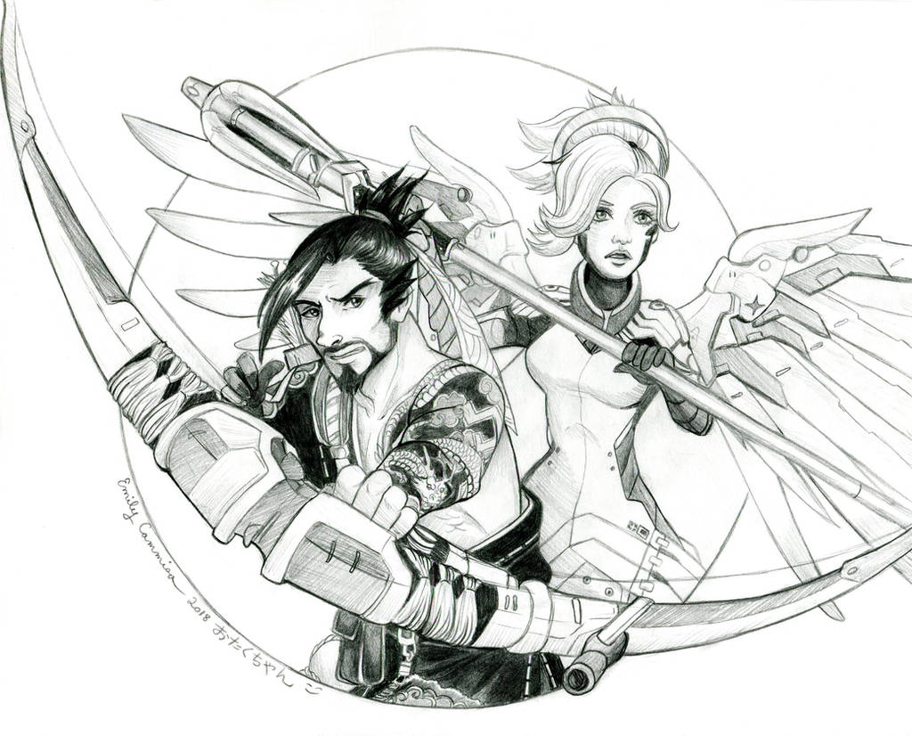 Overwatch Hanzo and Mercy by EmilyCammisa