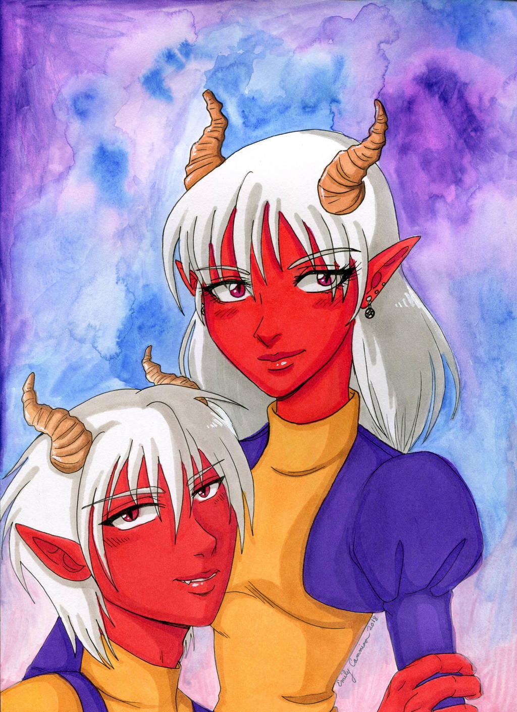 The Gemini Twins by EmilyCammisa