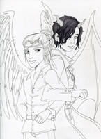 Luciel and Asmodeus by EmilyCammisa