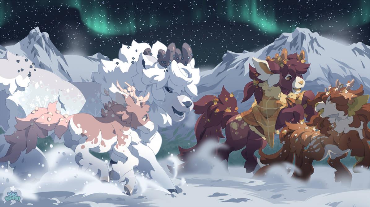 Snowfield by lynstrommr