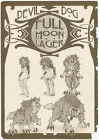 Devil Dog Full Moon Lager by nothere3