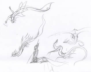Mythical Creature Sketches by MistoftheDawn