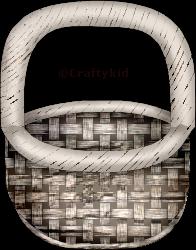 Craftykid Basket Wooden by Craftykid