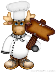 Craftykidchristmasmoosechef 2 With Blank Sign by Craftykid