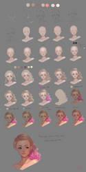 Face study 2 by Yettyen