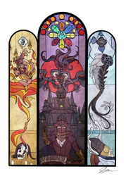 Yharnam Stained Glass by Skuttlefish