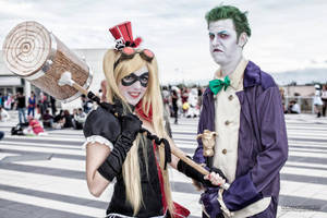 Harley Quinn and Joker! Why so serious?! by Elis90