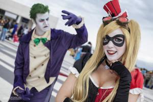 Harley Quinn Steampunk and Joker by Elis90