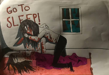 old drawing of Jeff the killer by SagnaChan