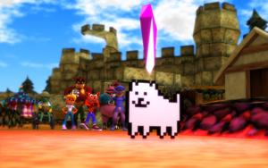 Annoying Dog steals the crystal by NinjawsGaiden