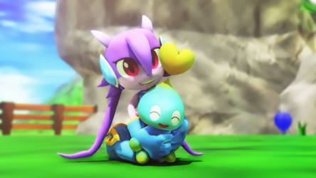Lilac meets a chao by NinjawsGaiden
