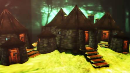 Hagrid's Huts by NinjawsGaiden