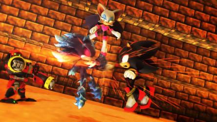 Team Dark VS Mephiles by NinjawsGaiden