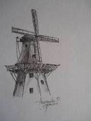 Holland Windmill by NaumenkoO
