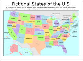 Fictional States of the U.S. by Tullamareena