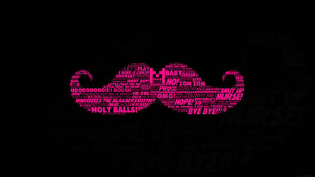Markiplier Typography Warfstache Mustache by GEEKsomniac