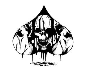 Spade of skull by terryrism