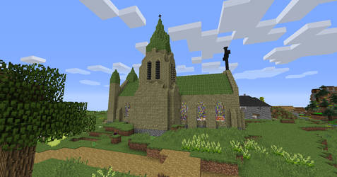 Modded Minecraft Church Bell Tower by RollingLight