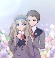 Kokoro and Mitsuru [FanArt] by ShimayaEiko