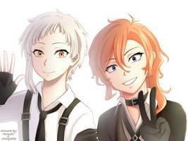 Atsushi and Chuya [FanArt Collab] by ShimayaEiko
