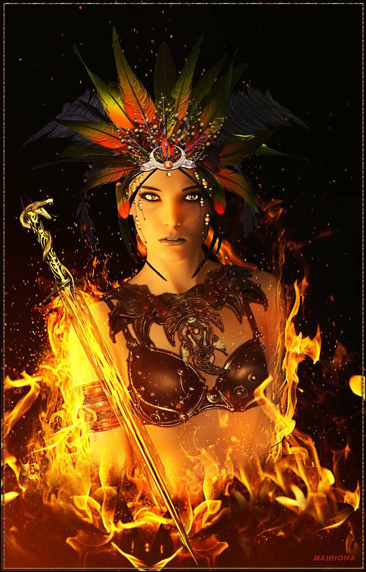 Fire-warrior by Mahhona