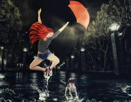 Dancing in the rain by Mahhona