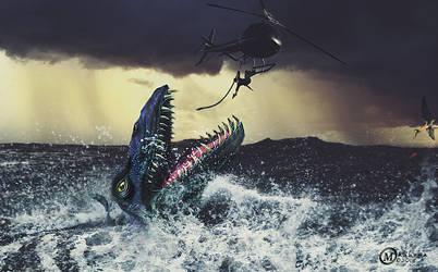 Mosasaur by Mahhona