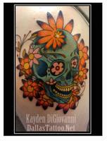 Sugar Skull Daisy Spiral by kayden7