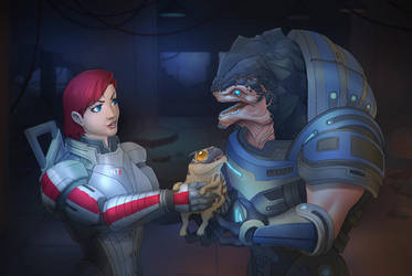 shepard and grunt by daimontribe
