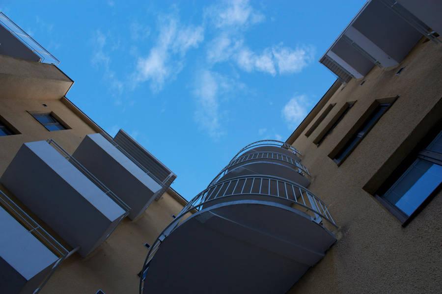 Blue balcony, Sininen parveke by AneurysmGuy