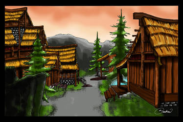 Peaceful village by Bautica