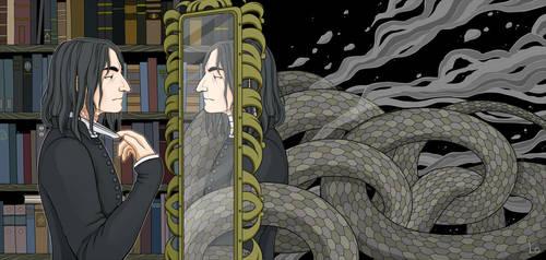 Severus Snape by paranoiac-lo