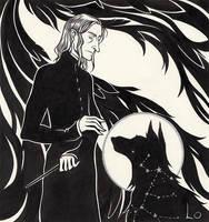 Severus and Sirius by paranoiac-lo