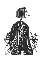 Snape sketch by paranoiac-lo