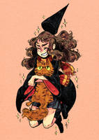 Hermione and Crookshanks by Frankzie