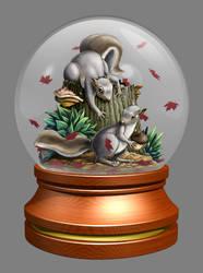 Squirrel Globe by yolkum