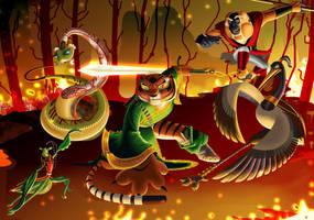 Mis cinco furiosos/kung fu panda by Rocio-Aj